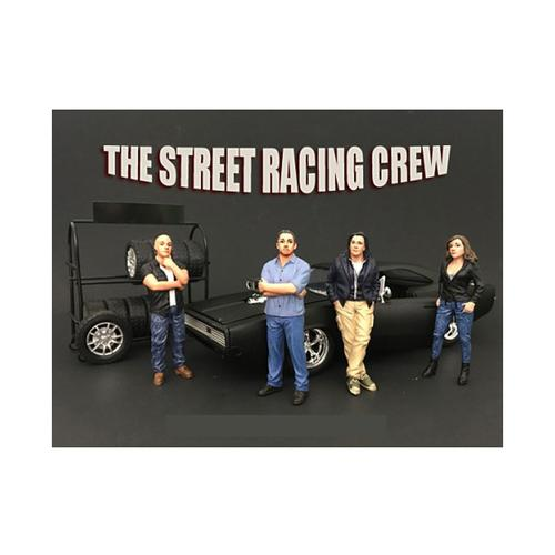 The Street Racing Crew 4 Piece Figure Set For 1:24 Scale Models by American Diorama