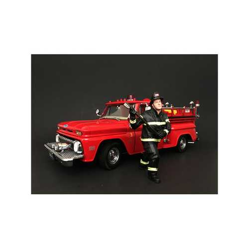 Firefighter with Axe Figurine / Figure For 1:24 Models by American Diorama