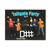 Tailgate Party Set II 4 Piece Figure Set For 1:18 Scale Models by American Diorama