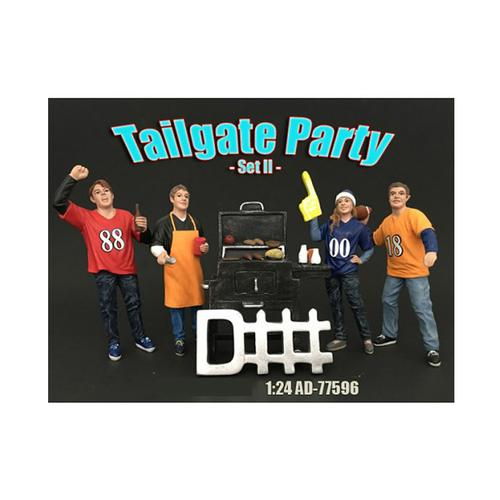 Tailgate Party Set II 4 Piece Figure Set For 1:24 Scale Models by American Diorama