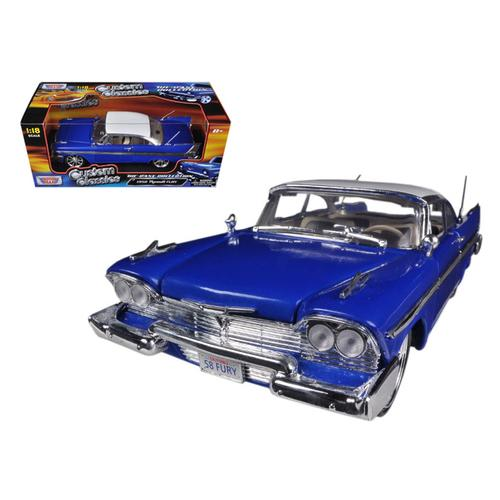 1958 Plymouth Fury Blue Custom 1/18 Diecast Car Model by Motormax