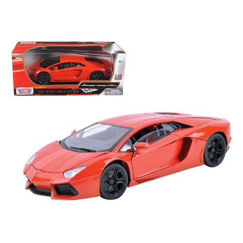 Lamborghini Aventador LP700-4 Orange 1/18 Diecast Car Model by Motormax