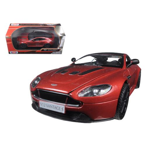 Aston Martin Vantage S V12 Red 1/24 Diecast Model Car by Motormax
