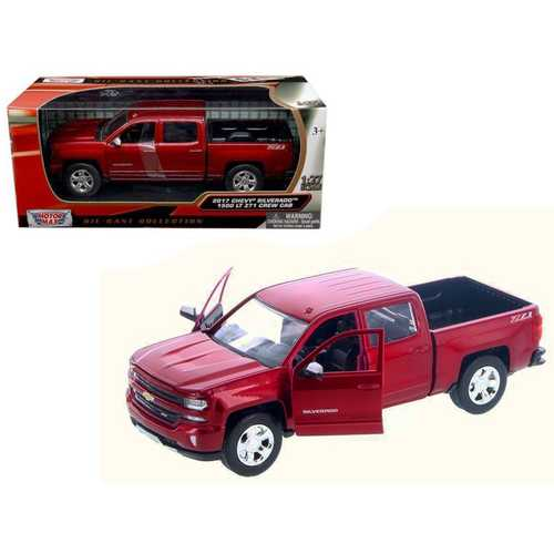 2017 Chevrolet Silverado 1500 LT Z71 Crew Cab Metallic Red 1/27 Diecast Model Car by Motormax