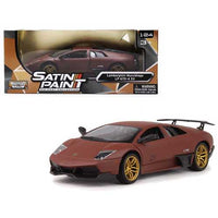 Lamborghini Murcielago LP 670-4 SV Matte Brown 1/24 Diecast Model Car by Motormax