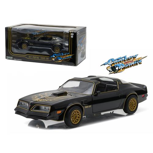 "1977 Pontiac Trans Am Black ""Smokey and the Bandit"" Movie 1/24 Diecast Model Car  by Greenlight"