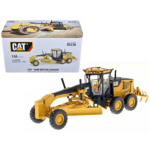 CAT Caterpillar 140M Motor Grader with Operator High Line Series 1/50 Diecast Model by Diecast Masters