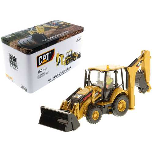 CAT Caterpillar 432F2 Backhoe Loader High Line Series with Operator 1/50 Diecast Model  by Diecast Masters