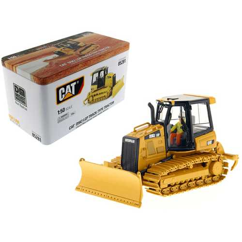 CAT Caterpillar D5K2 LGP Track Type Tractor Dozer with Ripper with Operator High Line Series 1/50 Diecast Model by Diecast Masters