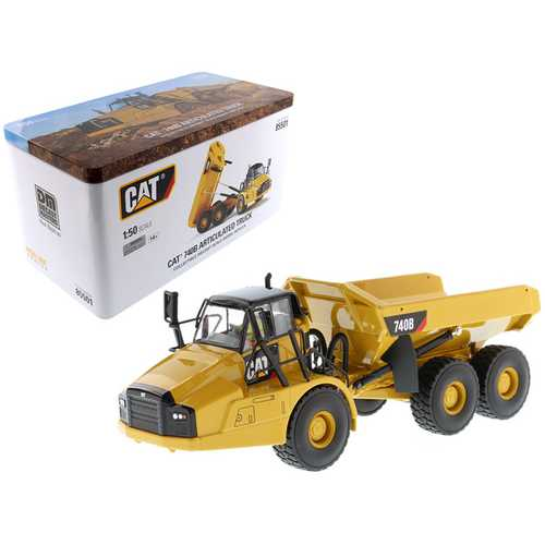 CAT Caterpillar 740B Articulated Hauler/Dump Truck with Tipper Body and Operator High Line Series 1/50 Diecast Model by Diecast Masters