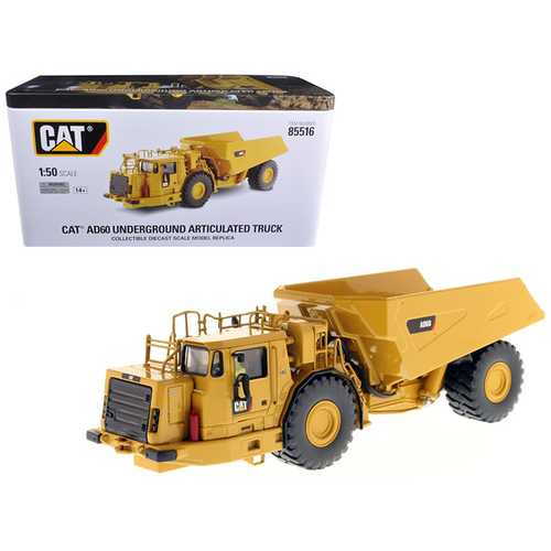 CAT Caterpillar AD60 Articulated Underground Truck with Operator High Line Series 1/50 Diecast Model by Diecast Masters