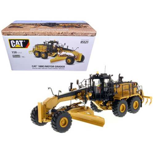 CAT Caterpillar 18M3 Motor Grader with Operator High Line Series 1/50 Diecast Model by Diecast Masters
