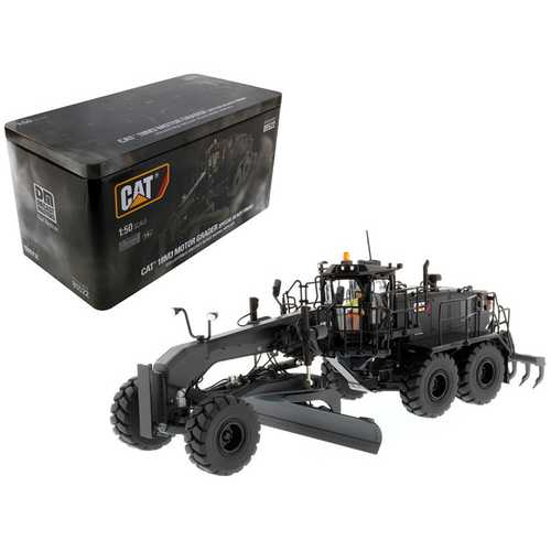 CAT Caterpillar 18M3 Motor Grader Special Edition in Black Onyx with Operator High Line Series 1/50 Diecast Model by Diecast Masters