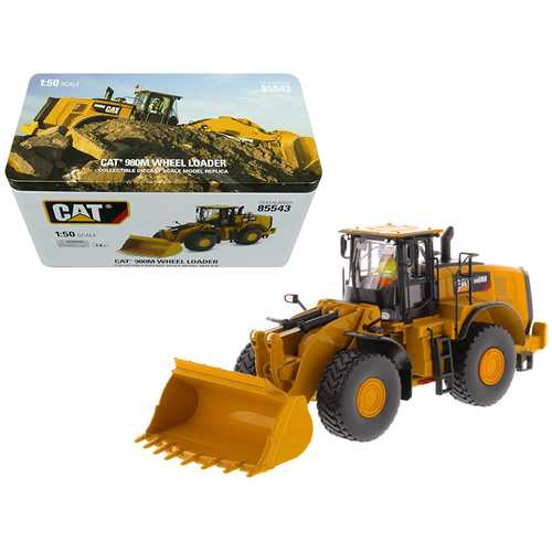 CAT Caterpillar 980M Wheel Loader with Rock Bucket and Operator High Line Series 1/50 Diecast Model by Diecast Masters