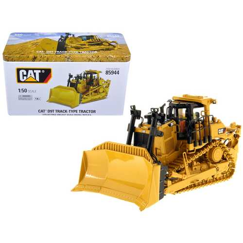 CAT Caterpillar D9T Track-Type Tractor with Operator High Line Series 1/50 Diecast Model by Diecast Masters