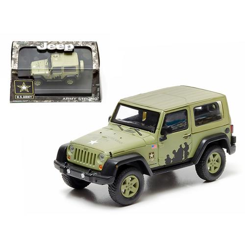 2012 Jeep Wrangler U.S. Army Hard Top Light Green With Display Showcase 1/43 Diecast Model by Greenlight