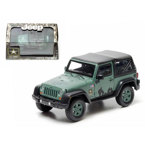 2012 Jeep Wrangler U.S. Army Hard Top Dark Green With Display Showcase 1/43 Diecast Model by Greenlight