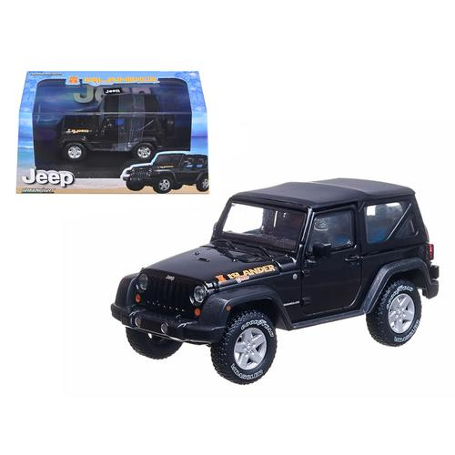 2010 Jeep Wrangler Islander Edition Black 1/43 Diecast Car Model by Greenlight