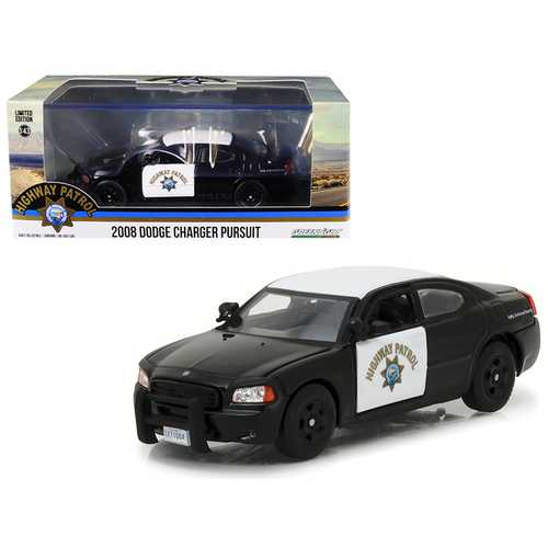 2008 Dodge Charger Police Interceptor Car California Highway Patrol (CHP) 1/43 Diecast Model Car by Greenlight