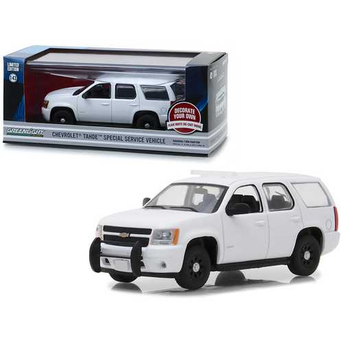 Chevrolet Tahoe Special Service Vehicle Plain White 1/43 Diecast Model Car by Greenlight