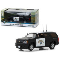 2012 Chevrolet Tahoe California Highway Patrol Black and White 1/43 Diecast Model Car by Greenlight