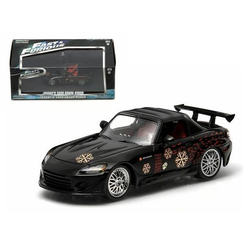 "Johnny's 2000 Honda S2000 Black ""The Fast and The Furious"" Movie (2001) 1/43 Diecast Model Car by Greenlight"
