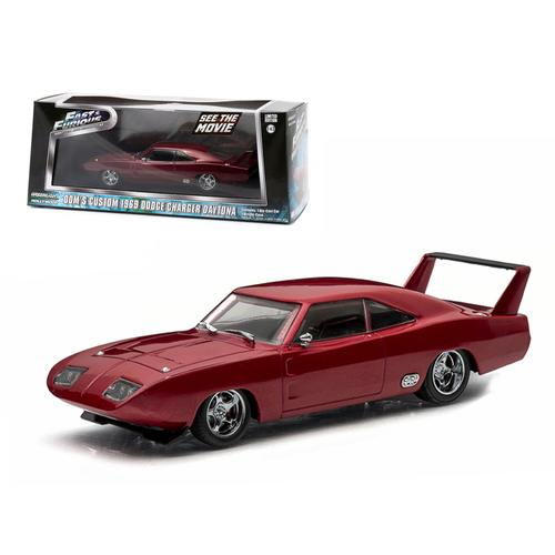 "Dom's 1969 Dodge Charger Daytona Maroon ""Fast and Furious 6"" Movie (2013) 1/43 Diecast Model Car by Greenlight"