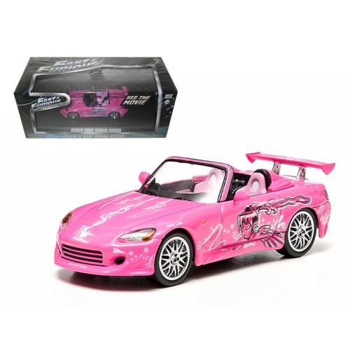 "Suki's 2001 Honda S2000 Pink ""2 Fast and 2 Furious"" Movie (2003) 1/43 Diecast Model Car by Greenlight"