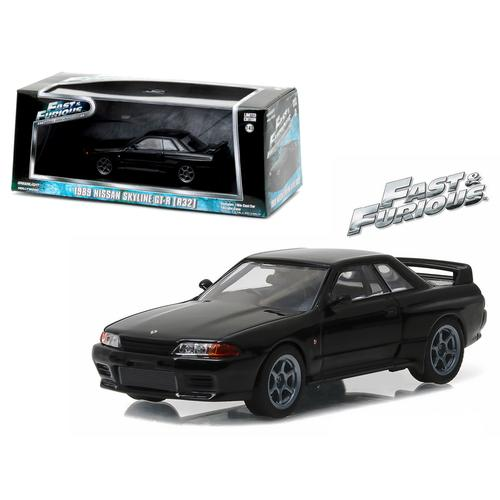 "1989 Nissan Skyline GT-R (R32) Fast and Furious ""Fast 7"" Movie (2015) 1/43 Diecast Model Car by Greenlight"