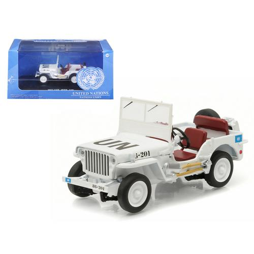 1944 Jeep Willys UN United Nations White 1/43 Diecast Model Car by Greenlight