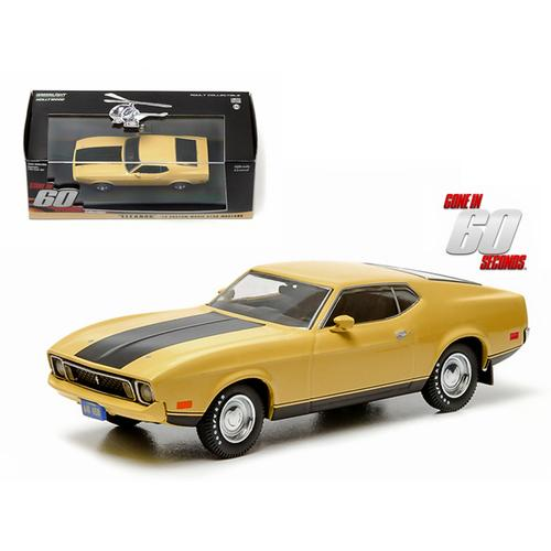 "1973 Ford Mustang Mach 1 Yellow ""Eleanor"" ""Gone in Sixty Seconds"" Movie (1974) 1/43 Diecast Model Car by Greenlight"