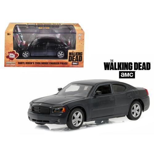 "Daryl Dixon's 2006 Dodge Charger Police ""The Walking Dead"" TV Series (2010-Current) 1/43 Diecast Model Car by Greenlight"