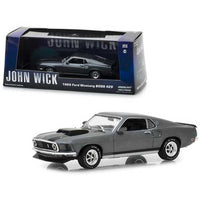 1969 Ford Mustang BOSS 429 Gray with Black Stripes