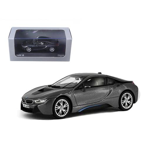 BMW i8 Grey with Blue 1/43 Diecast Model Car by Paragon