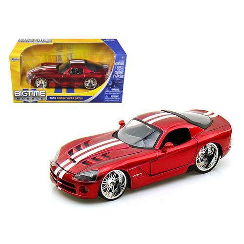2008 Dodge Viper SRT10 Metallic Red 1/24 Diecast Model Car by Jada