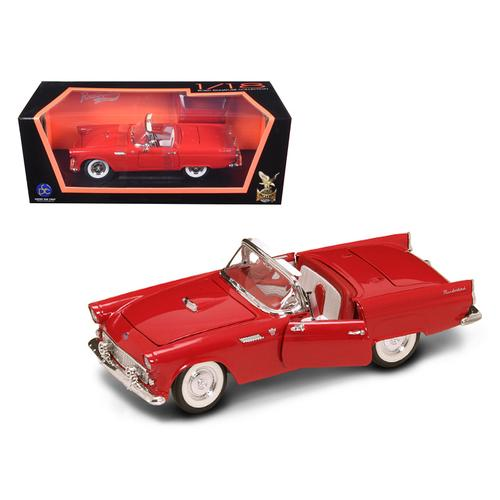 1955 Ford Thunderbird Red With Red Roof 1/18 Diecast Model Car by Road Signature