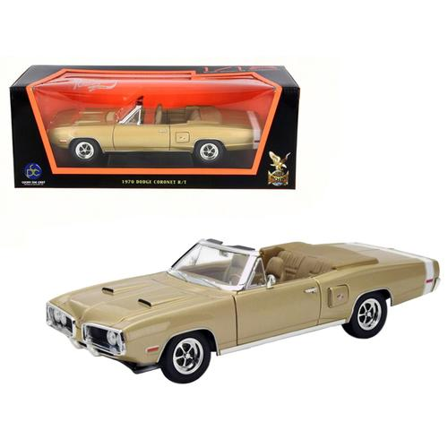 1970 Dodge Coronet R/T Gold 1/18 Diecast Model Car by Road Signature