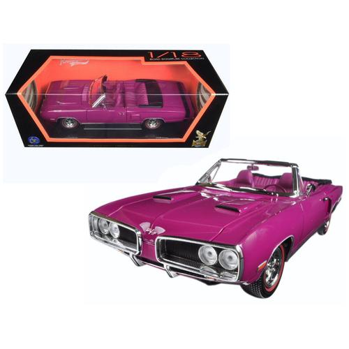 1970 Dodge Coronet R/T Purple 1/18 Diecast Model Car by Road Signature