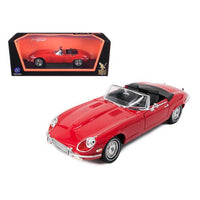 1971 Jaguar E Type Red 1/18 Diecast Model Car by Road Signature