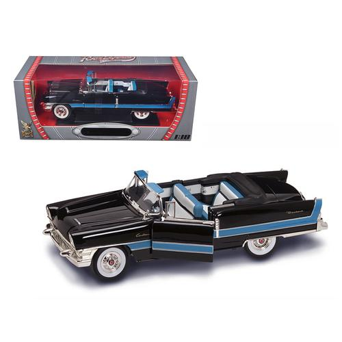 1955 Packard Caribbean Convertible Black 1/18 Diecast Model Car by Road Signature