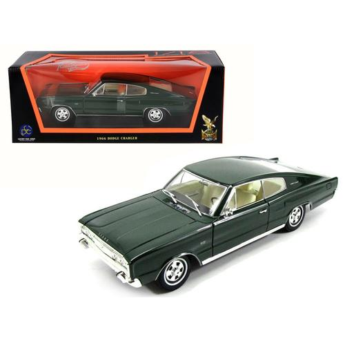 1966 Dodge Charger Green 1/18 Diecast Model Car by Road Signature