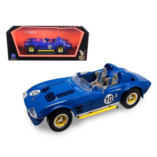 1964 Chevrolet Corvette Grand Sport Roadster #10 Dark Blue 1/18 Diecast Model Car by Road Signature
