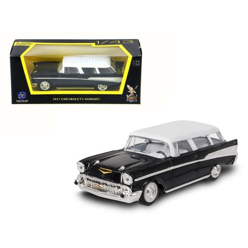 1957 Chevrolet Nomad Black 1/43 Diecast Model Car by Road Signature
