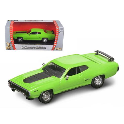 1971 Plymouth GTX 440 6 Pack Green 1/43 Diecast Model Car by Road Signature