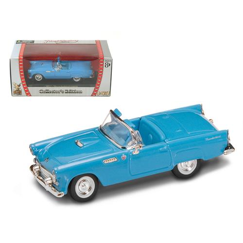 1955 Ford Thunderbird Blue 1/43 Diecast Model Car by Road Signature