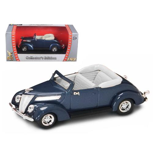 1937 Ford V8 Convertible Blue 1/43 Diecast Model Car by Road Signature