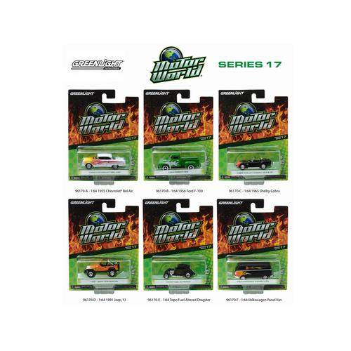 Motor World Series 17, 6pc Diecast Car Set 1/64 Diecast Model Cars by Greenlight