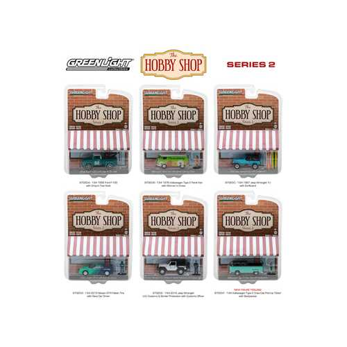 The Hobby Shop Series 2, 6pc Set 1/64 Diecast Model Cars by Greenlight
