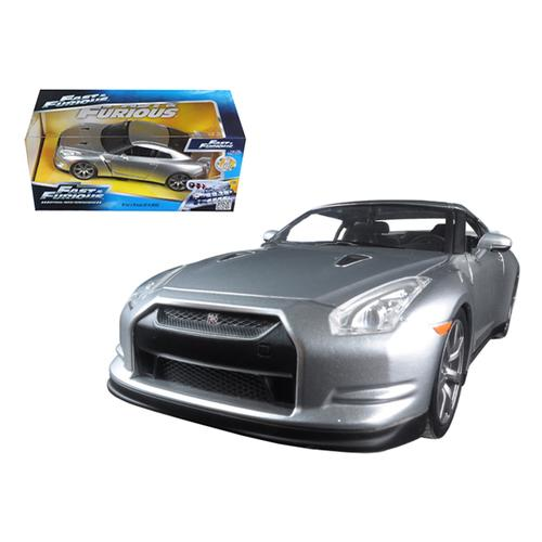 "Brian's Nissan GTR R35 Silver ""Fast & Furious"" Movie 1/24 Diecast Model Car by Jada"