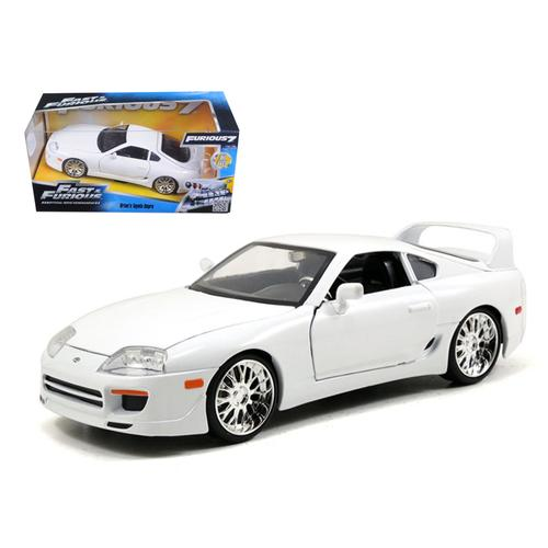 "Brian's Toyota Supra White ""Fast & Furious"" Movie 1/24 Diecast Car Model by Jada"